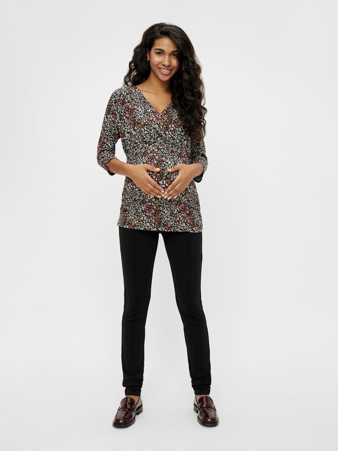 MLAMINE 2-IN-1 MATERNITY TOP, Black, large