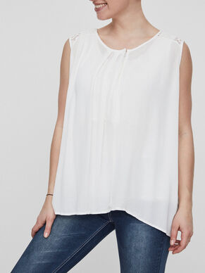 WOVEN NURSING TOP, SLEEVELESS