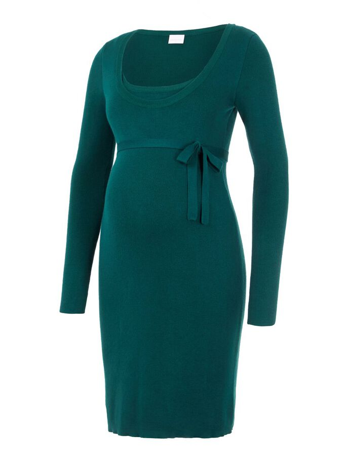 KNITTED 2-IN-1 MATERNITY DRESS, Deep Teal, large