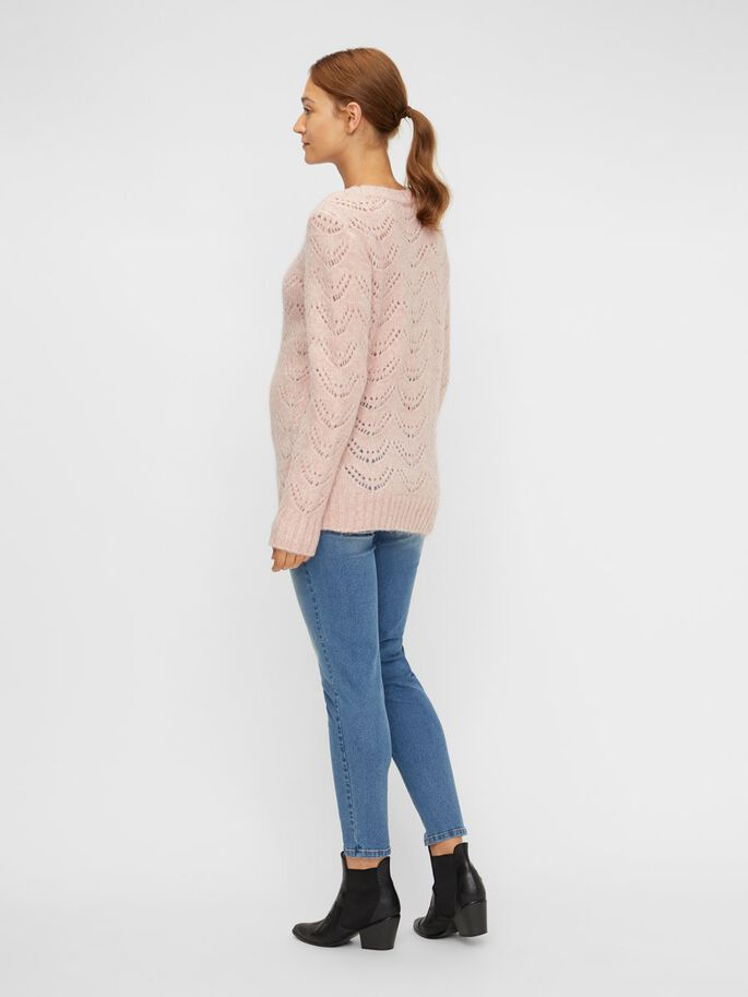 STRUCTUR KNITTED MATERNITY PULLOVER, Misty Rose, large