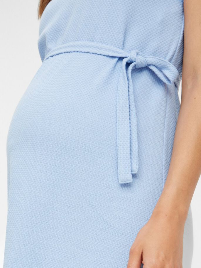 MLBEX PEPLUM MATERNITY MINI DRESS, Sky Blue, large