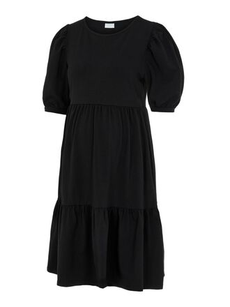 PCMTERESE PUFF SLEEVED MATERNITY DRESS