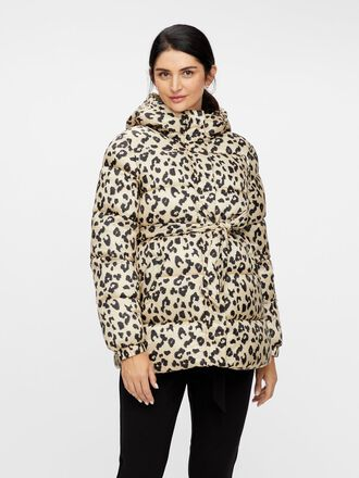ANIMAL PRINTED PADDED MATERNITY JACKET