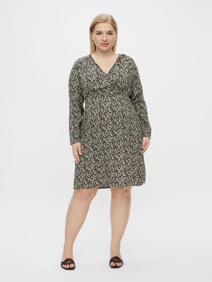 MLPHINA 2-IN-1 MATERNITY DRESS, Black, large