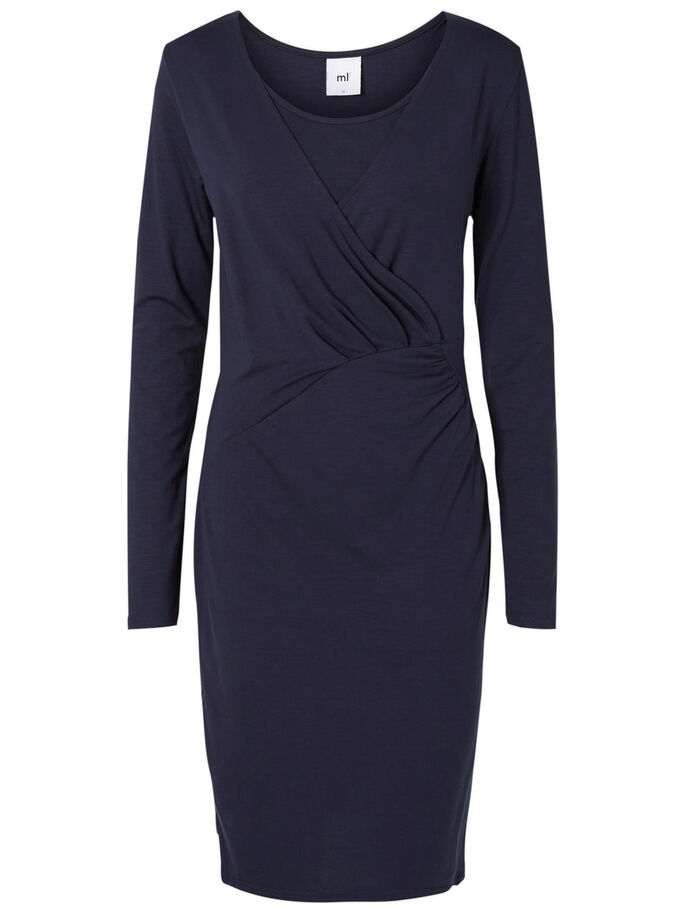 JERSEY- STILL-KLEID, Navy Blazer, large
