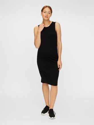 SLEEVELESS BODYCON MATERNITY MIDI DRESS