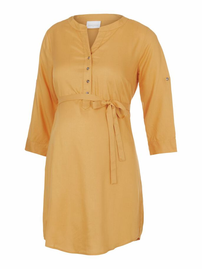 MLMERCY 3/4 SLEEVED MATERNITY TUNIC, Golden Apricot, large