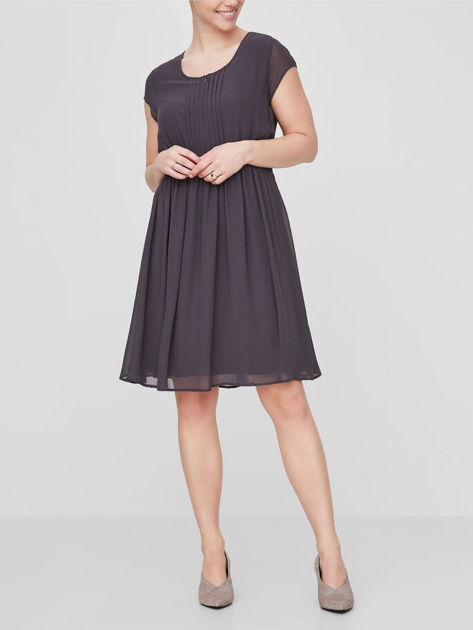 WOVEN NURSING DRESS, Nine Iron, large