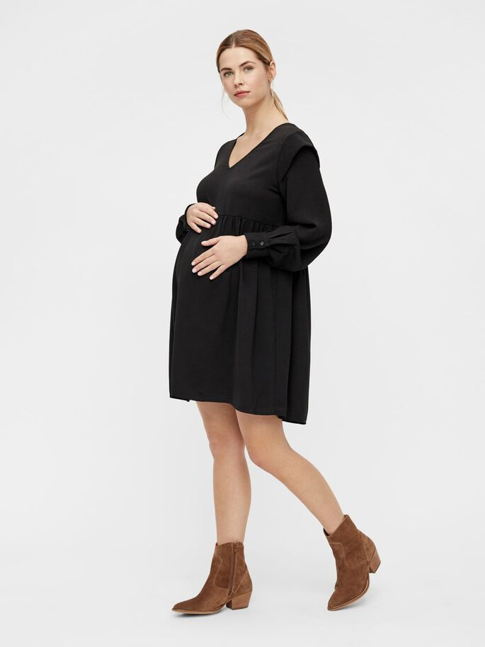 PCMDORTHY MATERNITY DRESS, Black, large