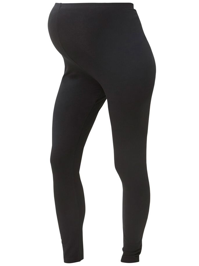 2-PACK JERSEY MATERNITY LEGGINGS, Black, large