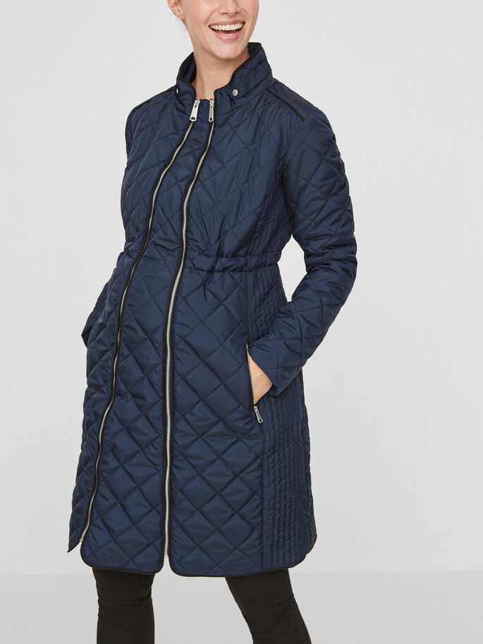 PADDED MATERNITY JACKET, Navy Blazer, large