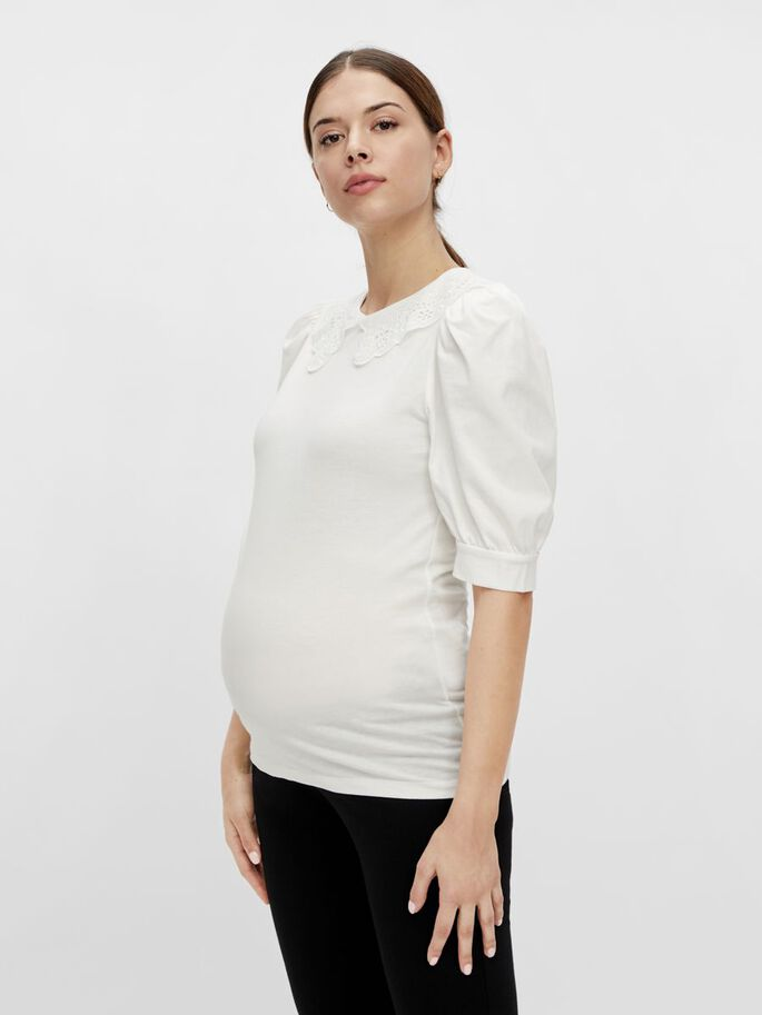 MLBIRGIT MATERNITY TOP, Snow White, large