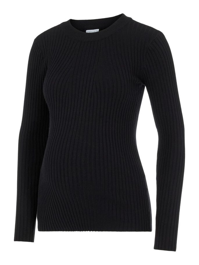 PCMCRISTA MATERNITY PULLOVER, Black, large