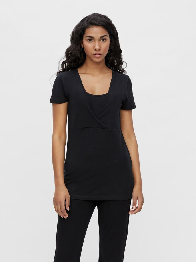 2-PACK NURSING TOP, Black, large