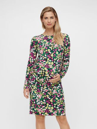 FLORAL JERSEY MATERNITY DRESS