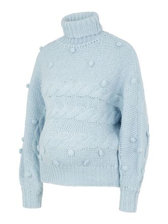 KNITTED ROLL NECK MATERNITY PULLOVER
