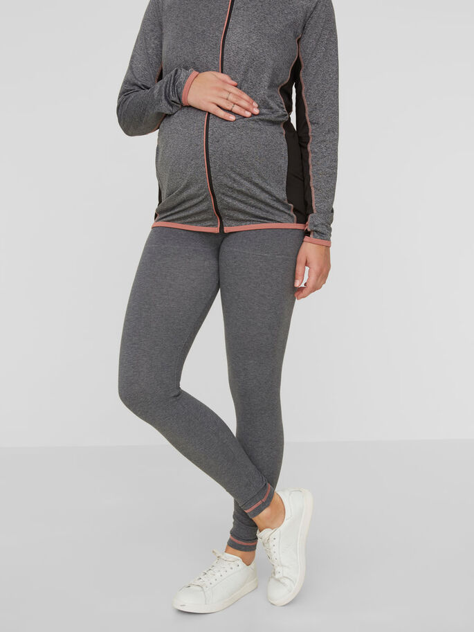 SLIM FIT MAMMALEGGINGS, Dark Grey Melange, large