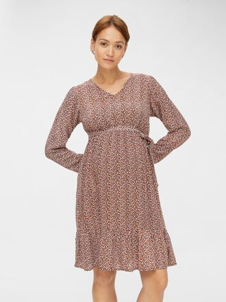 PRINTED VISCOSE MATERNITY DRESS