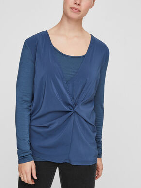 KNOT DETAILED NURSING TOP, LONG SLEEVED