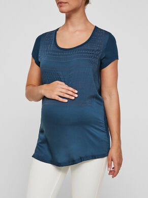 DETAILED MATERNITY TOP, SHORT SLEEVED