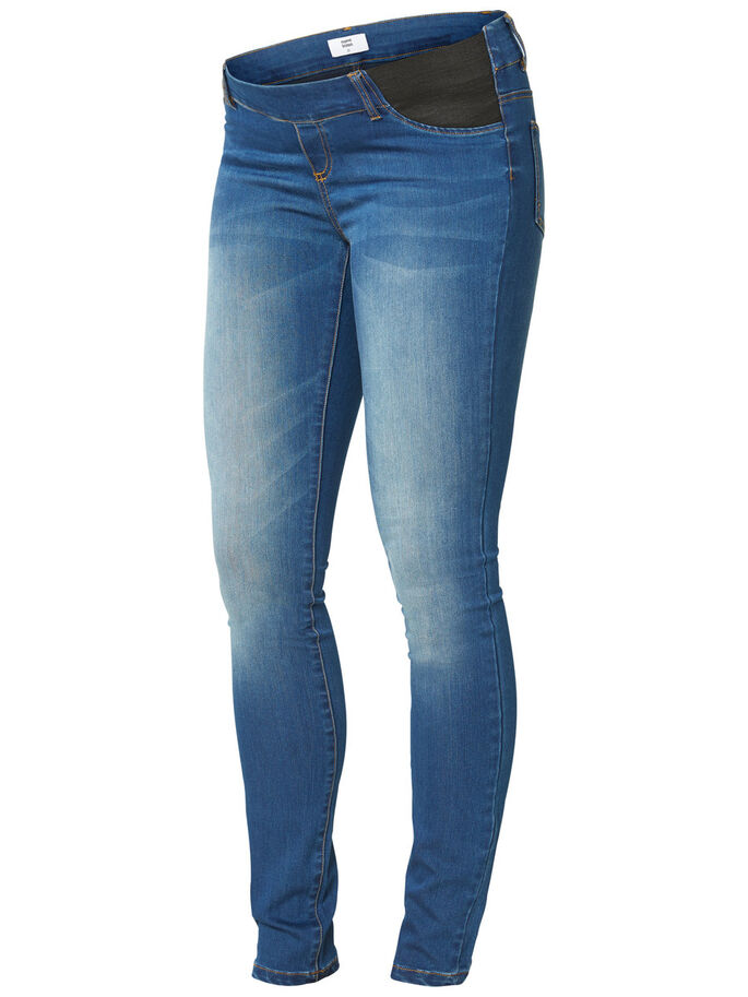 SLIM FIT JEGGINGS, Medium Blue Denim, large