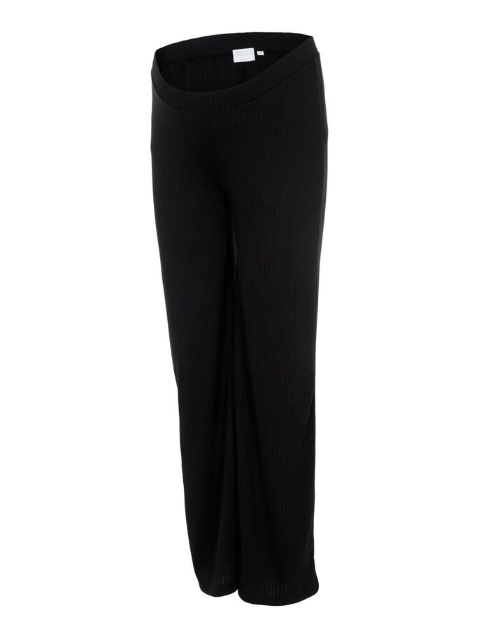 PCMMOLLY MATERNITY TROUSERS, Black, large