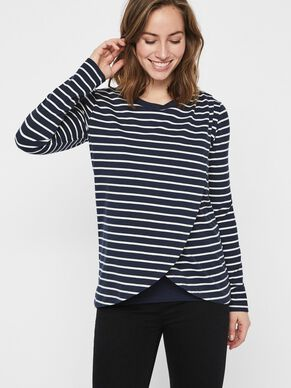 0cdd1c09c32 STRIPED NURSING TOP, LONG SLEEVED