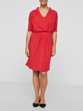 2/4 SLEEVED NURSING DRESS