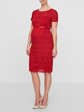 LACE DETAILED MATERNITY DRESS