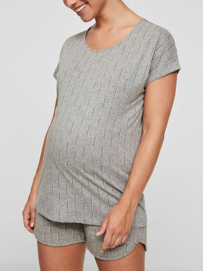 JERSEY MATERNITY TOP, SHORT SLEEVED