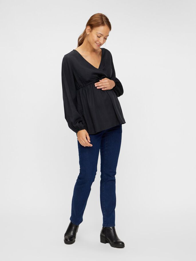 MLDAIZY MATERNITY TOP, Black, large