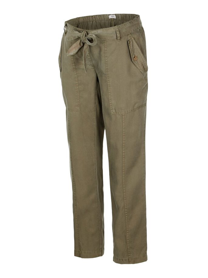 LOOSE FIT MATERNITY TROUSERS, Dusty Olive, large