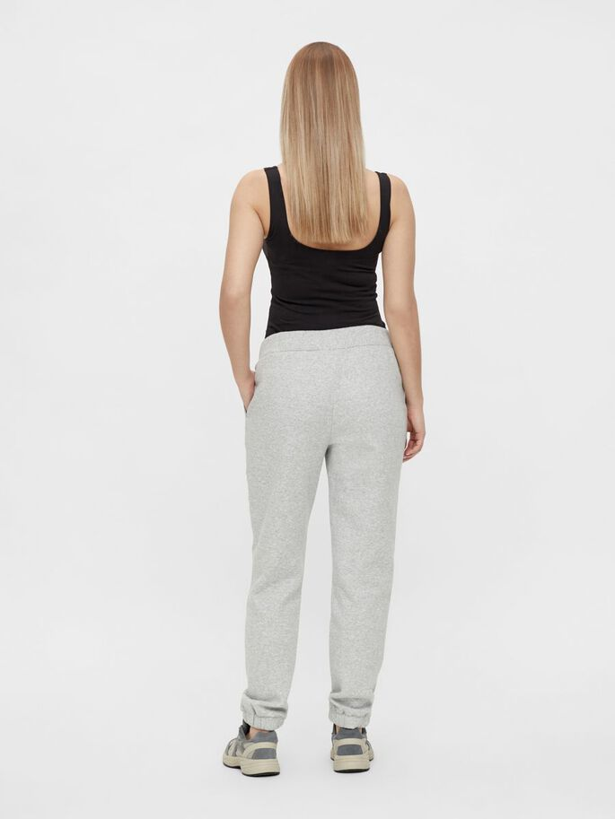 PCMLEDA UMSTANDS-SWEATPANTS, Light Grey Melange, large