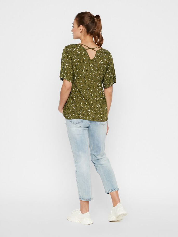 MLLEVETTA FLORAL MATERNITY TOP, Olivine, large
