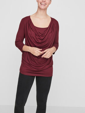 WATERFALL DETAILED NURSING BLOUSE, 3/4 SLEEVED
