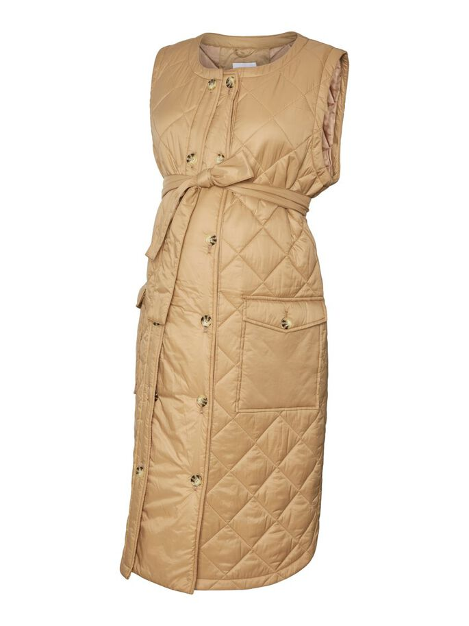 MLFRILLE 2-IN-1 MATERNITY GILET, Tigers Eye, large
