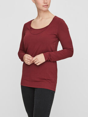 2-PACK NURSING BLOUSE, LONG SLEEVED