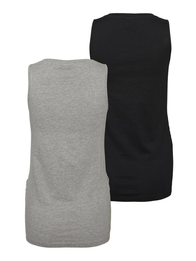2-PACK JERSEY MATERNITY TOP, Black, large