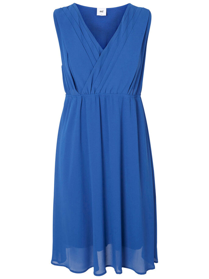 WOVEN NURSING DRESS, Mazarine Blue, large