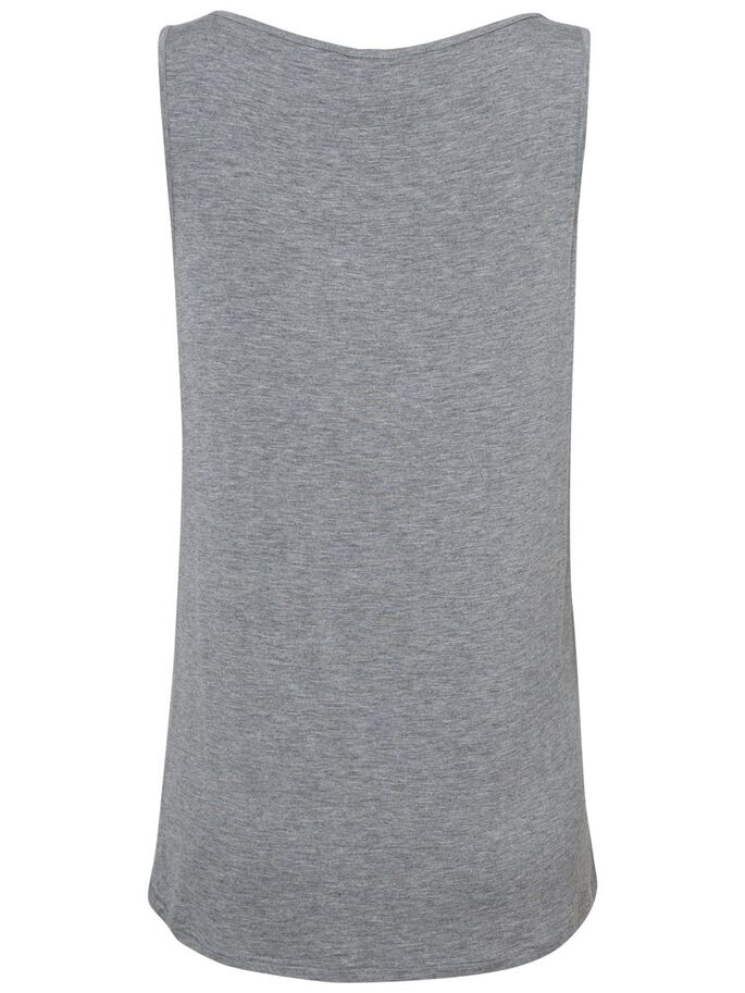 JERSEY TOP DE MATERNITÉ, SANS MANCHES, Medium Grey Melange, large