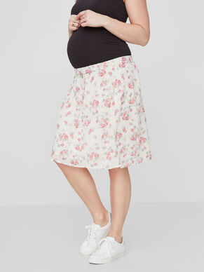 FLOWER MATERNITY SKIRT, SHORT