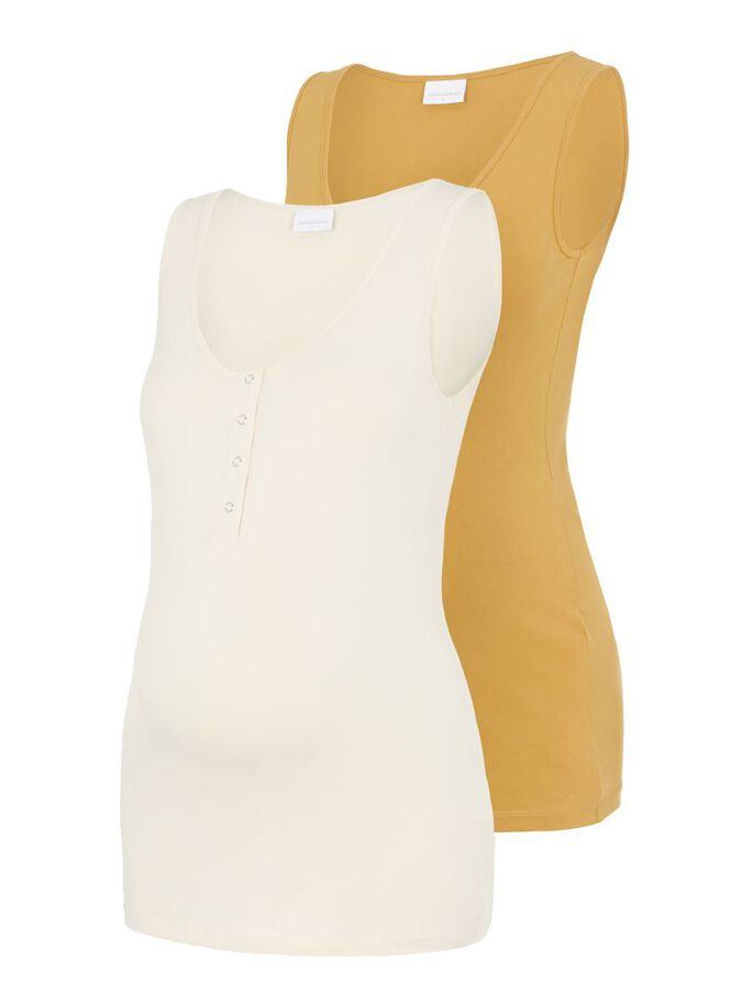MLMAPLE 2-PACK 2-IN-1 MATERNITY TOP, Amber Gold, large