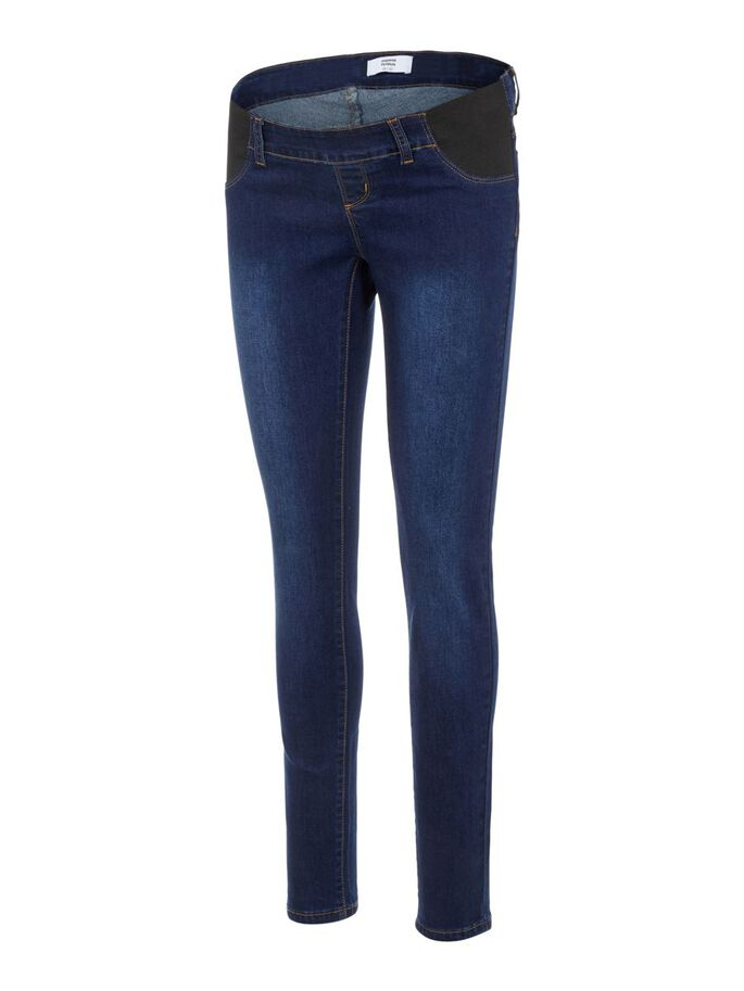 MLLOLA UMSTANDSJEANS, SLIM FIT, Dark Blue Denim, large