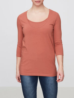 JERSEY NURSING TOP, 3/4 SLEEVED