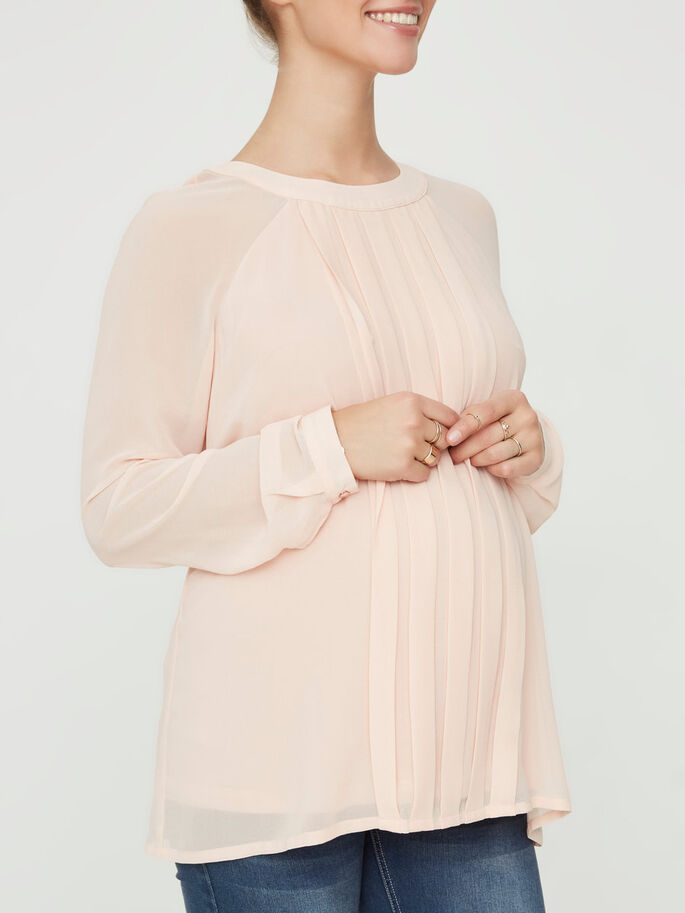 WOVEN MATERNITY TOP, Misty Rose, large