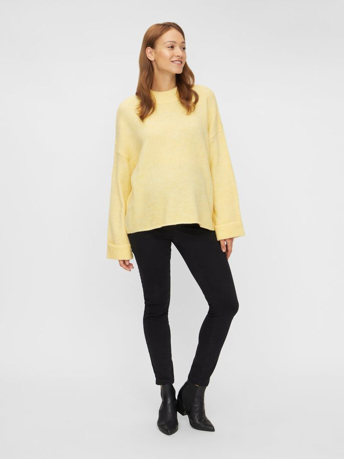 MLMERVE KNITTED MATERNITY PULLOVER, Elfin Yellow, large