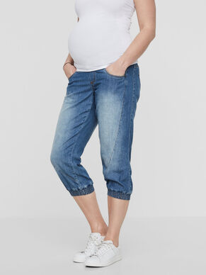 DENIM MATERNITY CAPRIS