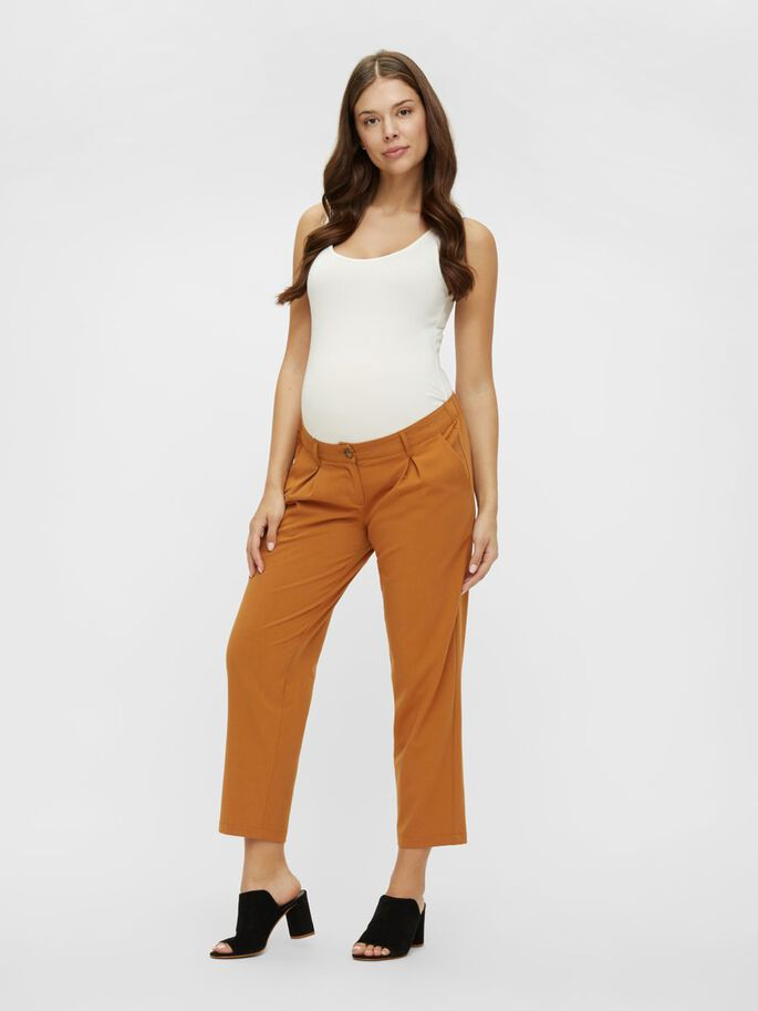 MLHIRA SLOUCHY MATERNITY TROUSERS, Meerkat, large