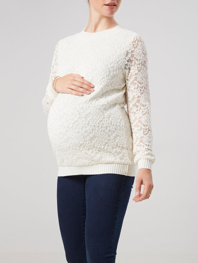 WOVEN MATERNITY TOP, Snow White, large