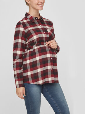 CHECKED MATERNITY SHIRT